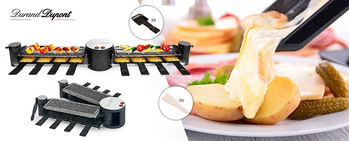 durand dupont 1151086 un appareil raclette convivial pour 8 personnes. Black Bedroom Furniture Sets. Home Design Ideas
